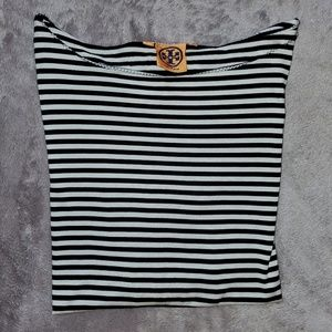🆕 NWOT Tory Burch silk striped top.